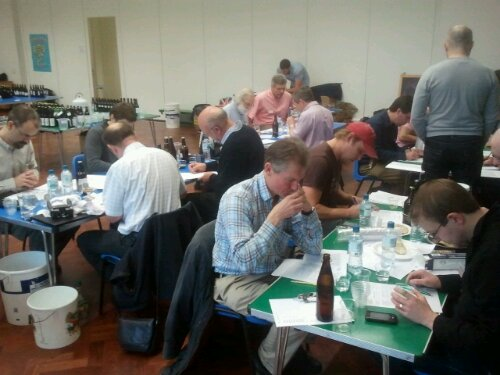 Judging at London SE Brewing Festival
