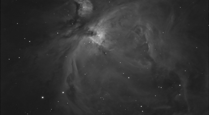 M42, The Orion Nebula in H-Alpha (work in progress)