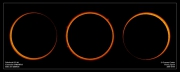 Montage of the annular stages of the eclipse, Oct 3rd, 2005