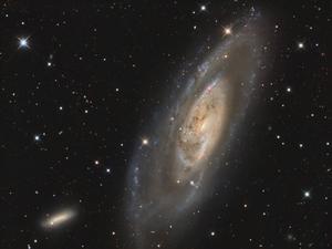 M106 (with NGC4248) - LRGB