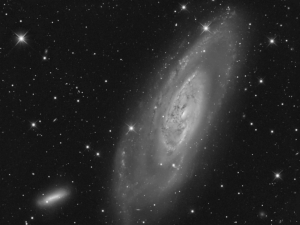 M106 (with NGC4248) - Luminance Channel