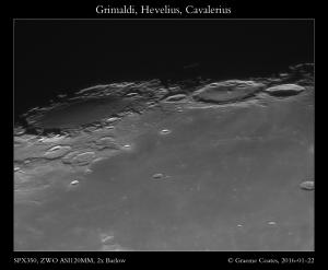 Grimaldi, Hevelius, Cavalerius - 22/01/2016