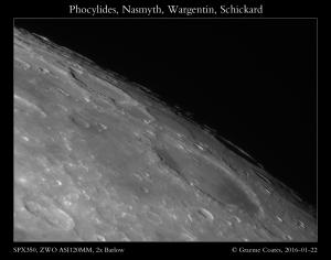 Phocylides, Nasmyth, Wargentin, Schickard - 22/01/2016