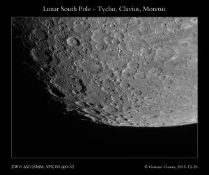 Lunar South Pole - inc. Tycho, Clavius, Moretus