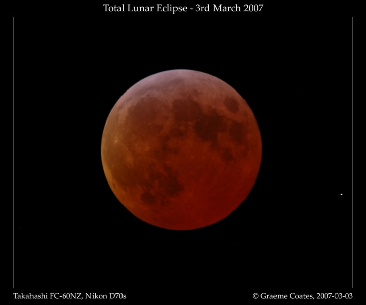 Lunar Eclipse March 3rd 2007 - Maximum eclipse