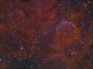 CTB1 - a SNR in Cassiopeia (Bicolour HA/OIII)
