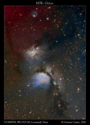 M78 in Orion in LRGB