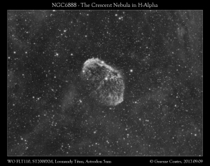 The Crescent Nebula (NGC6888) in Cygnus