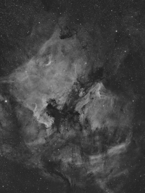 North America Nebula (NGC7000) and Pelican Nebula (IC5070)