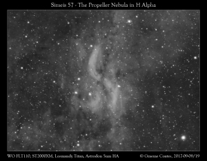 The Propeller Nebula (Simeis 57) in Cygnus - 7hrs Exposure