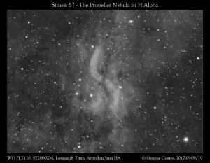 The Propeller Nebula (Simeis 57) in Cygnus - 7hrs Exposure