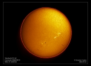 Sun in H-Alpha - 10th Sept 2005