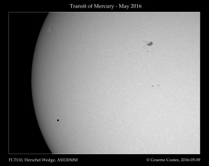 Transit of Mercury, 2016-05-09 1250 UT