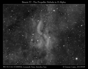 The Propeller Nebula (Simeis 57) in Cygnus